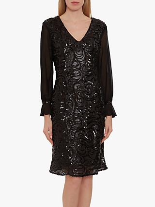 Gina Bacconi Kalita Sequin Dress, Black