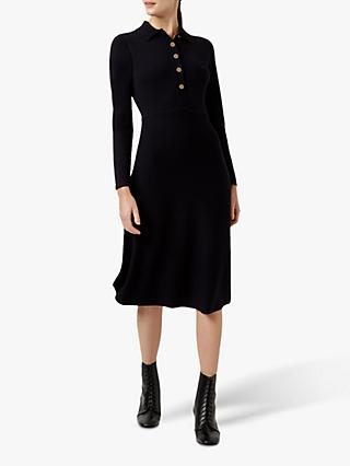 Hobbs Raven Knitted Dress, Navy