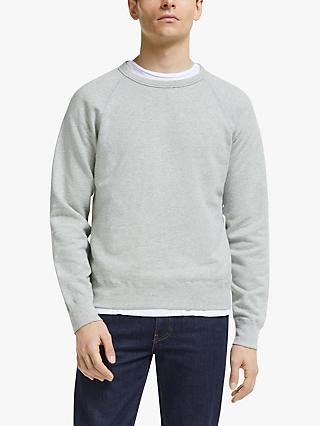 Save Khaki United Supima Fleece Raglan Crew Neck Sweatshirt, Heather Grey