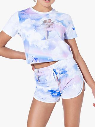 Hype Girls' Cherub Crop Top, Light Blue