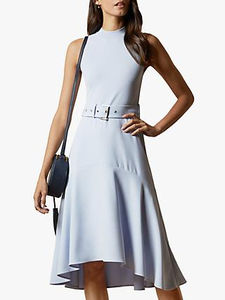 Ted Baker Corvala Sleeveless Midi Dress, Light Blue
