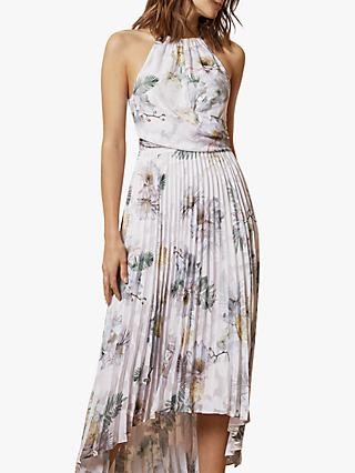 Ted Baker Daniiey Woodland Pleated Maxi Dress, Pale Pink