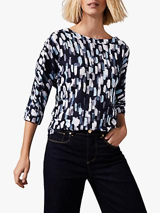 Phase Eight Florentine Print Top, Blue