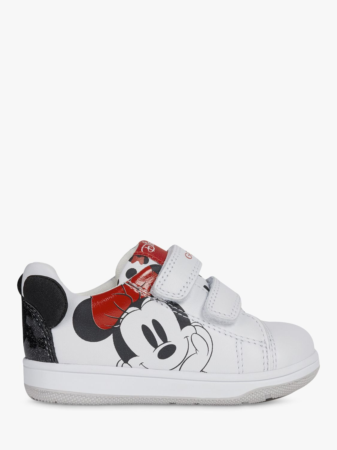 Geox Geox Junior New Flick Riptape Trainers, White