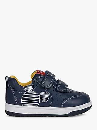Geox Junior New Flick Riptape Trainers, Navy