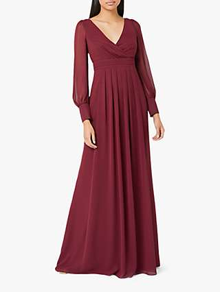 Maids to Measure Suzannah Maxi Dress, Burgundy