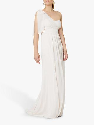 Maids to Measure Georgina Asymmetric Bow Dress, Cream Soda