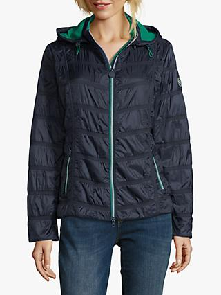 Betty Barclay Hooded Cross Jacket, Deep Navy
