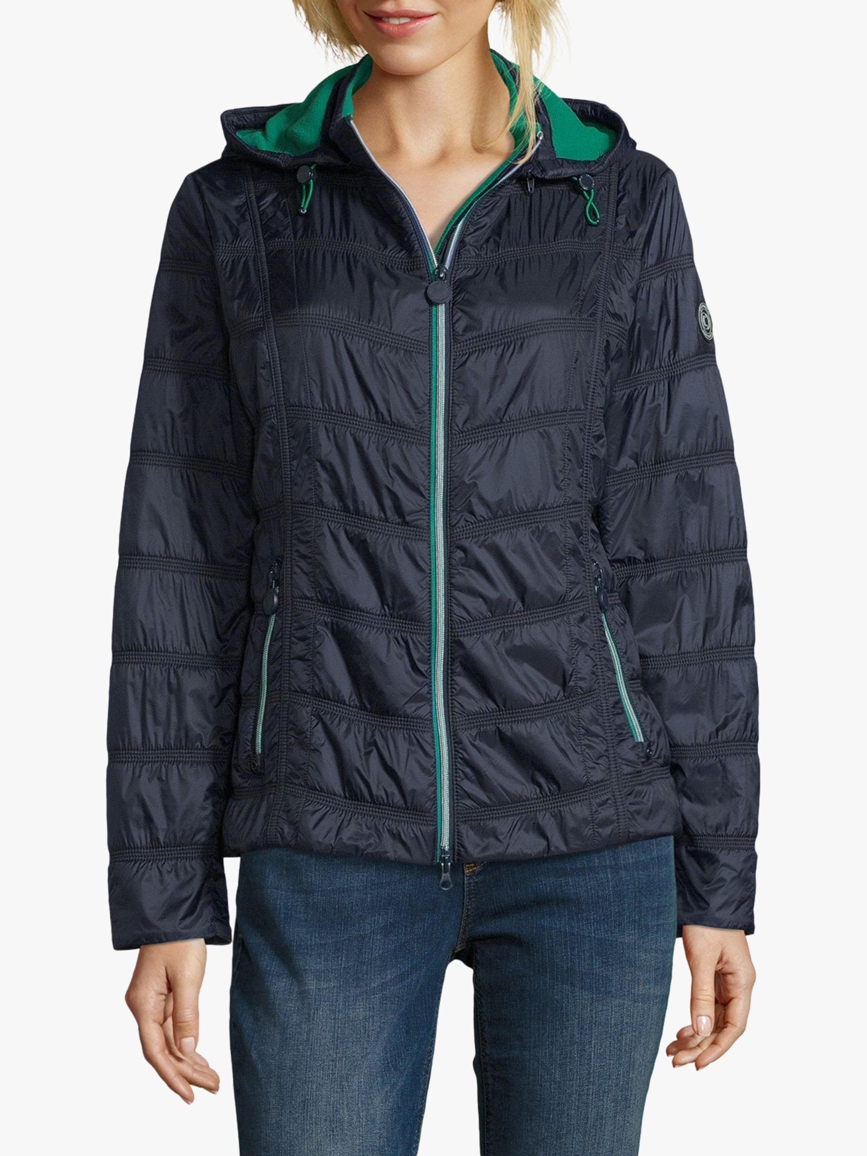 Betty Barclay Betty Barclay Hooded Cross Jacket, Deep Navy