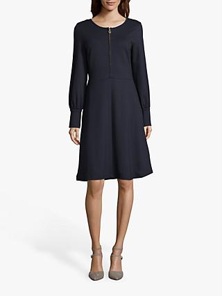 Betty Barclay Zip Detail Jersey Dress, Dark Sky