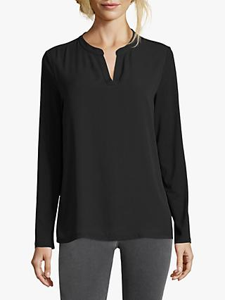 Betty Barclay Crepe And Jersey Top, Black