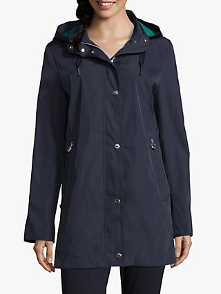 Betty Barclay Popper Trim Parka, Deep Navy