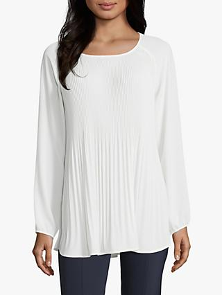 Betty Barclay Fine Pleated Crepe Blouse, Off White