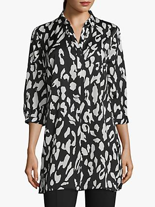 Betty Barclay Animal Print Tunic Top, Black/Cream