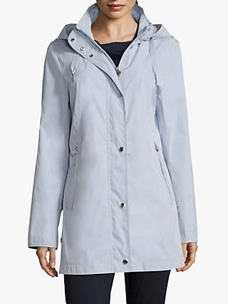 Betty Barclay Popper Trim Parka, Arctic Ice
