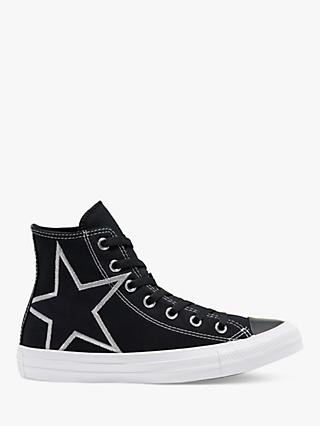 Converse Stars Aligned Hi-Top Trainers, Black