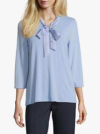 Betty Barclay Satin Pussy Bow Blouse, Light Opal