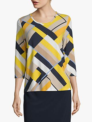 Betty Barclay Colour Block Cropped Sleeve Top, Multi