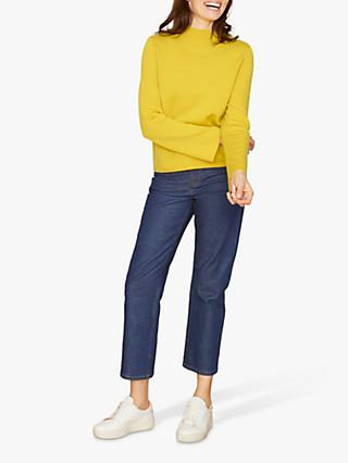 Jigsaw Double Faced Turtle Neck Jumper, Yellow
