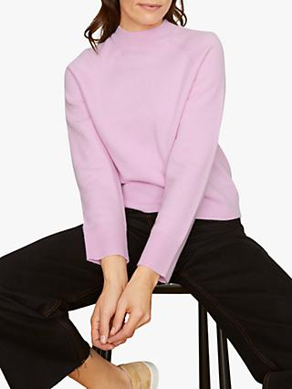 Jigsaw Cashmere Blend Split Neck Turtle Jumper