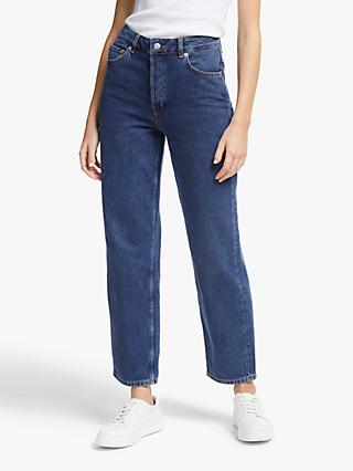 Selected Femme Kate Straight Leg Jeans, Medium Blue