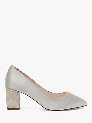 Rainbow Club Bambi Block Heel Court Shoes, Ivory