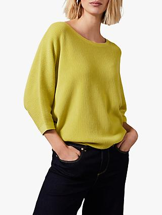 Phase Eight Cristine Batwing Knit Top, Lime