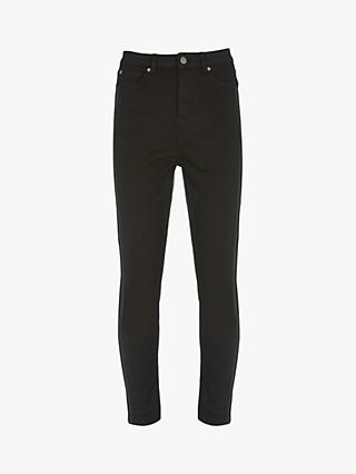 Mint Velvet Joliet High Waist Side Stripe Skinny Jeans, Black