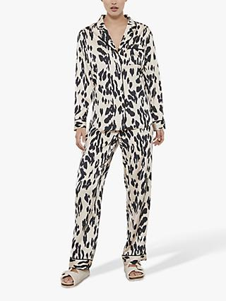 Hygge by Mint Velvet Lily Print Pyjama Bottoms, Multi