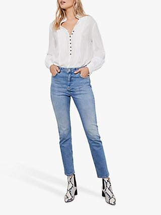 Mint Velvet Lexington Slim Fit Jeans, Blue