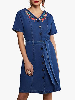 Yumi Butterfly Denim Dress, Blue
