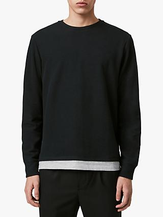 AllSaints Luge Layered T-Shirt, Black