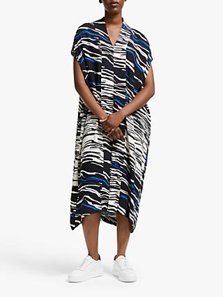 Kin Abstract Print Kimono Kaftan Dress, Blue