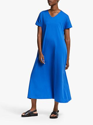 Kin Jersey V-Neck Gathered Back Dress