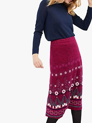 White Stuff Gothenburg Mid Skirt, Purple Plum