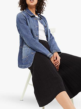 White Stuff Dena Denim Jacket, Blue Denim