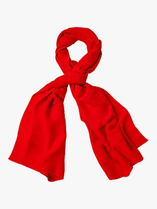 White Stuff Pleated Midweight Scarf, Maple Red