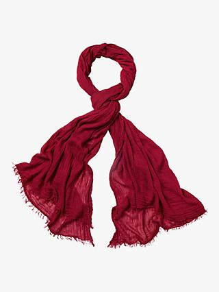 White Stuff Dreaming Away Scarf, Teak Red Plain