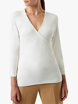 Hobbs Joni V Neck Top, Ivory