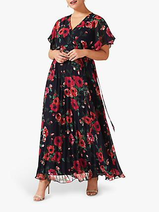 Studio 8 Lydia Floral Maxi Dress, Navy/Multi
