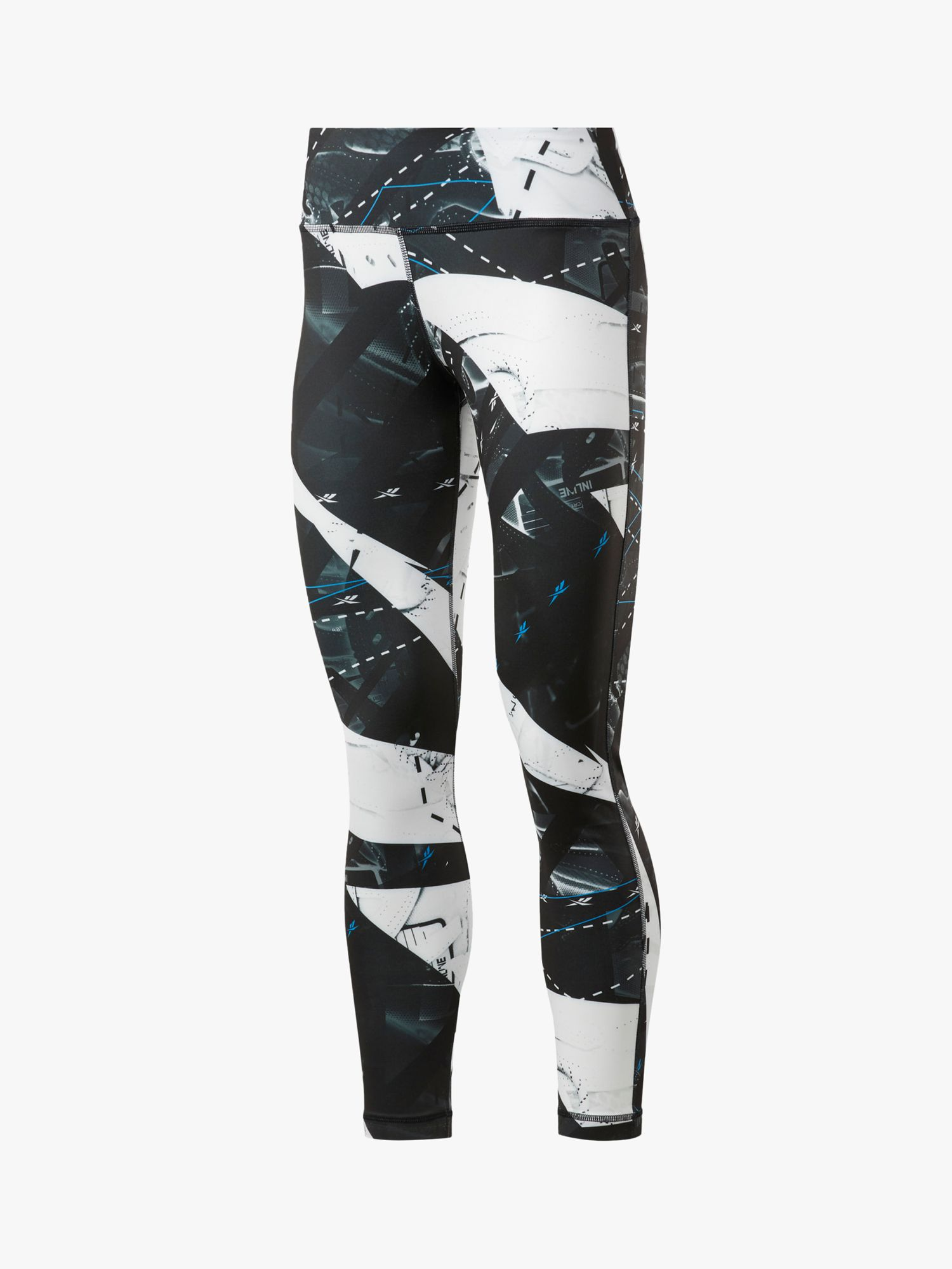 Reebok Workout Ready Printed Training Tights, Black