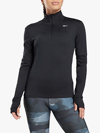 Reebok Running Essentials Quarter Zip Running Top, Black