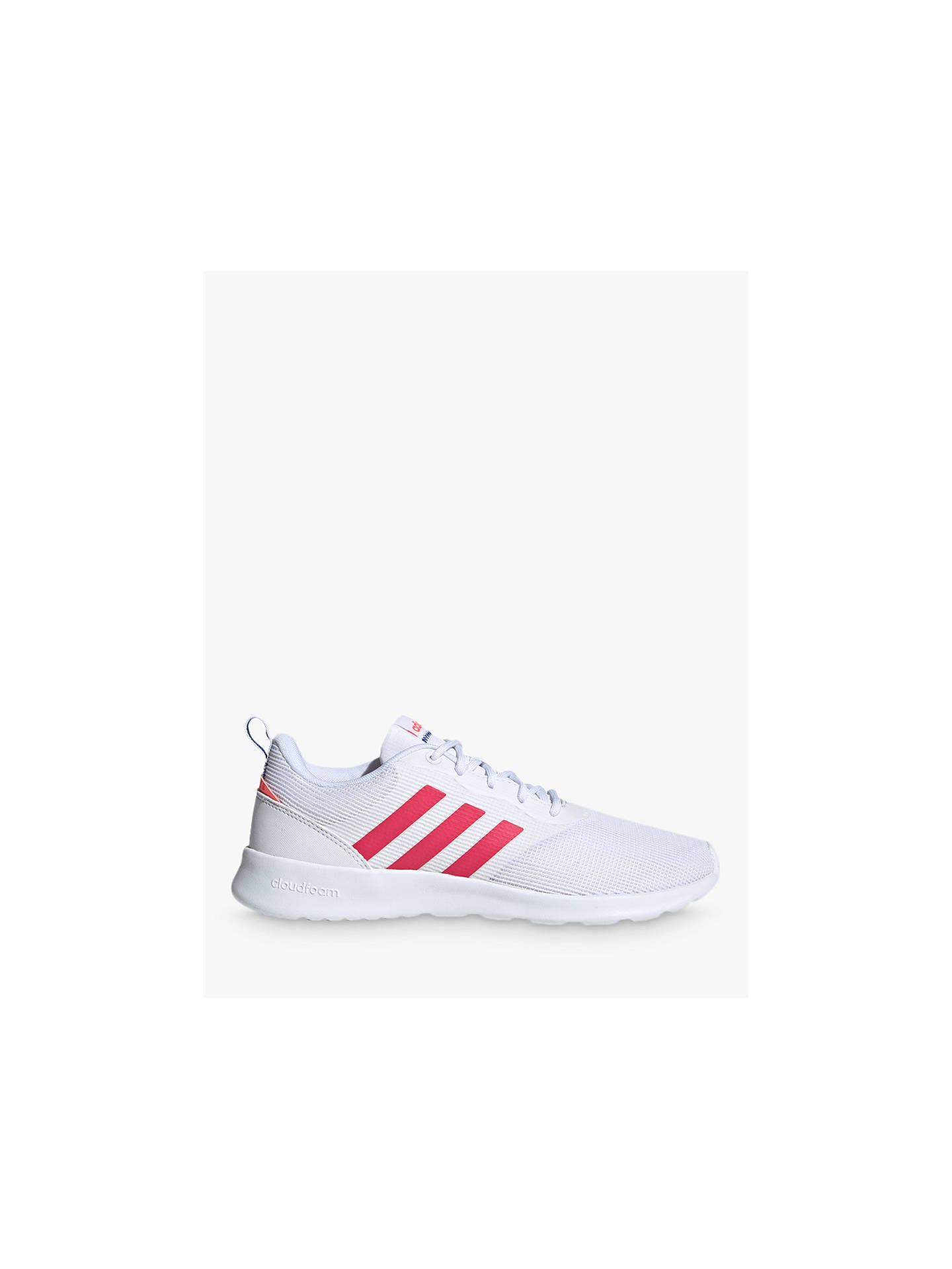 Portero conveniencia admiración  adidas QT Racer 2.0 Women's Trainers, Cloud White/Power Pink/Signal Pink at  John Lewis & Partners