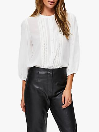 Selected Femme Valentina Laced Blouse, White