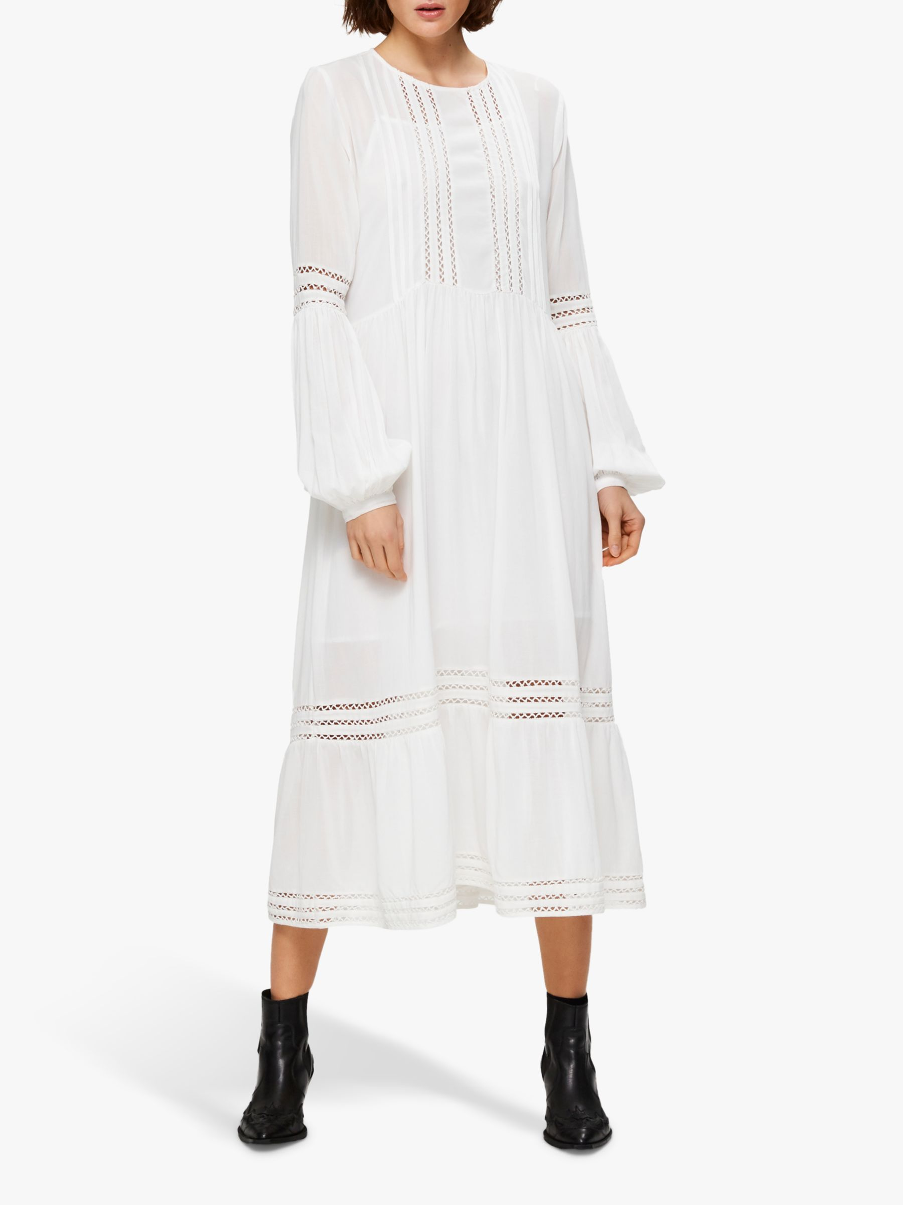 Selected Femme Valentina Ankle Dress Snow White At John Lewis Partners