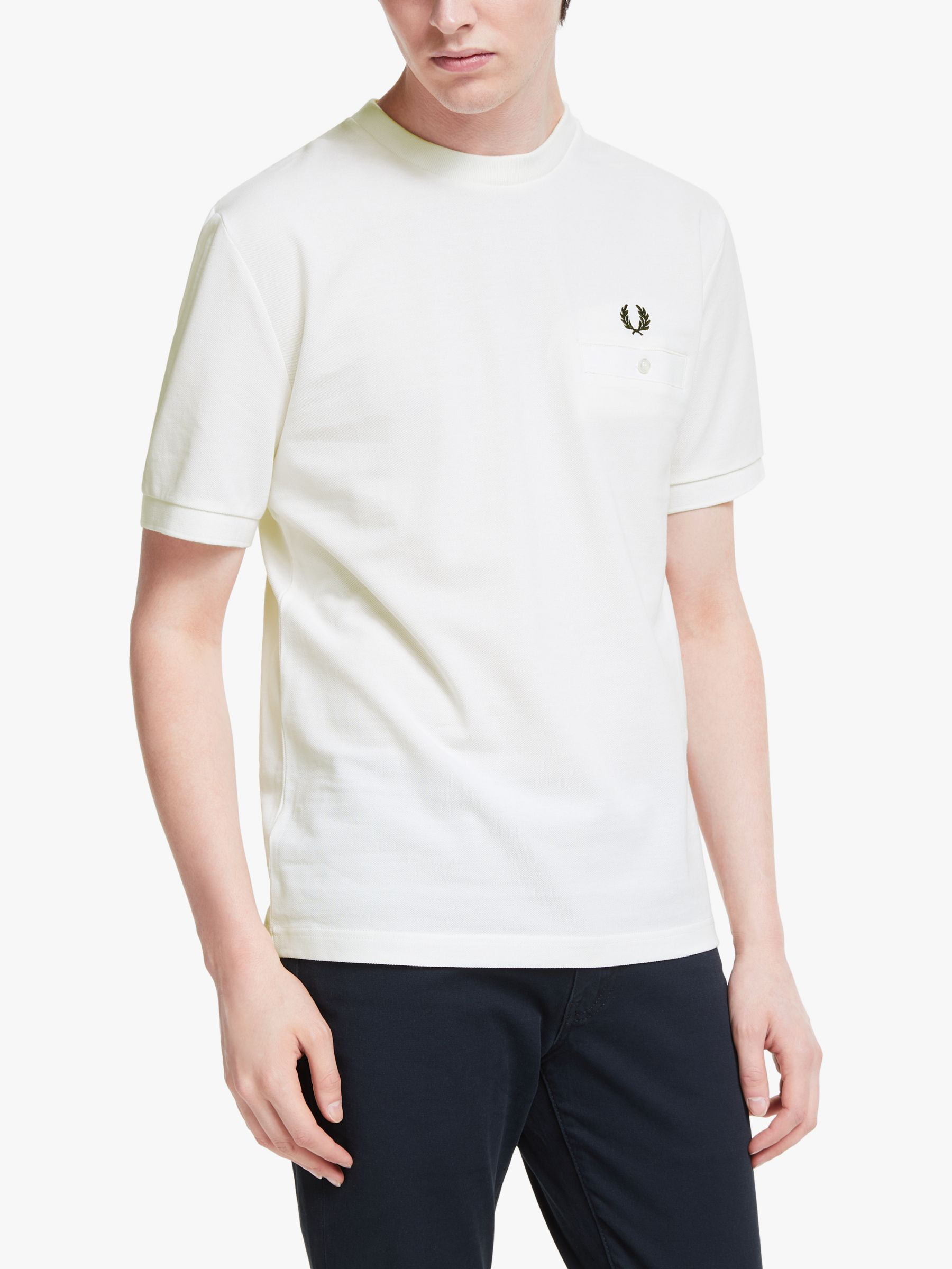 Fred Perry Fred Perry Pocket Detail Pique T-Shirt, Snow White