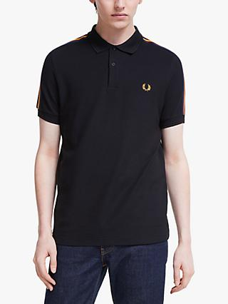 Fred Perry Taped Shoulder Polo Shirt, Black
