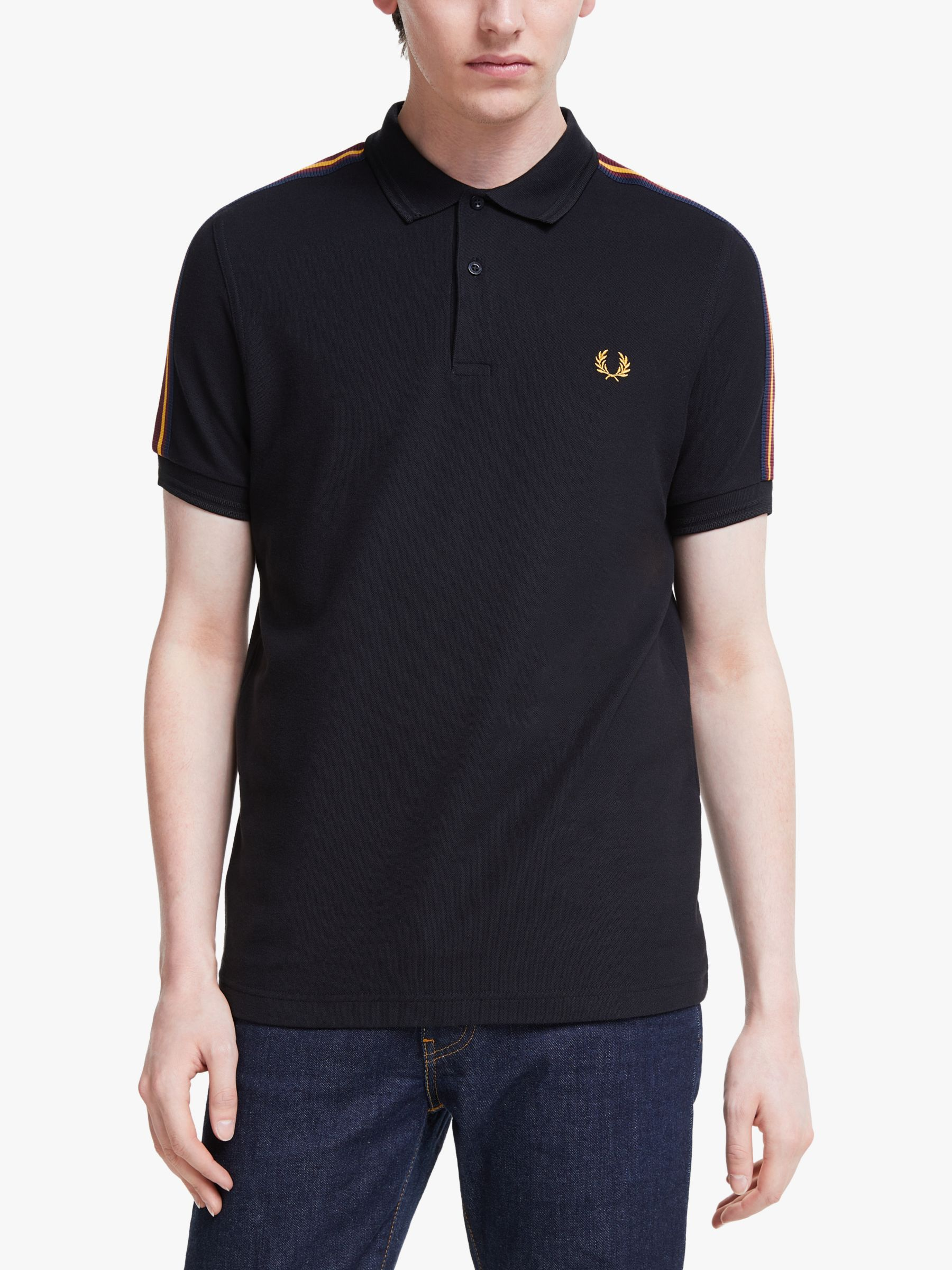 Fred Perry Fred Perry Taped Shoulder Polo Shirt, Black