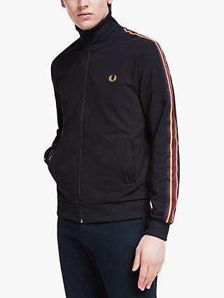 Fred Perry Taped Sleeve Track Jacket, Black
