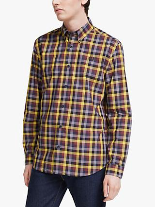 Fred Perry Five Colour Gingham Shirt, Gold